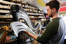 Pilgrim harps making a harp