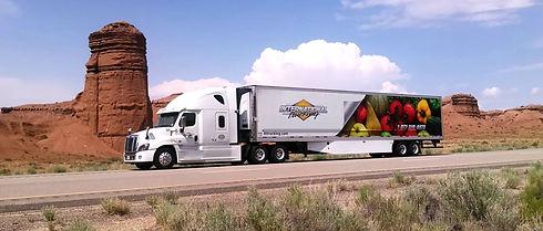 Refridgerated truck On Highway