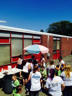 Kids at school enjoying Italian Ice 2