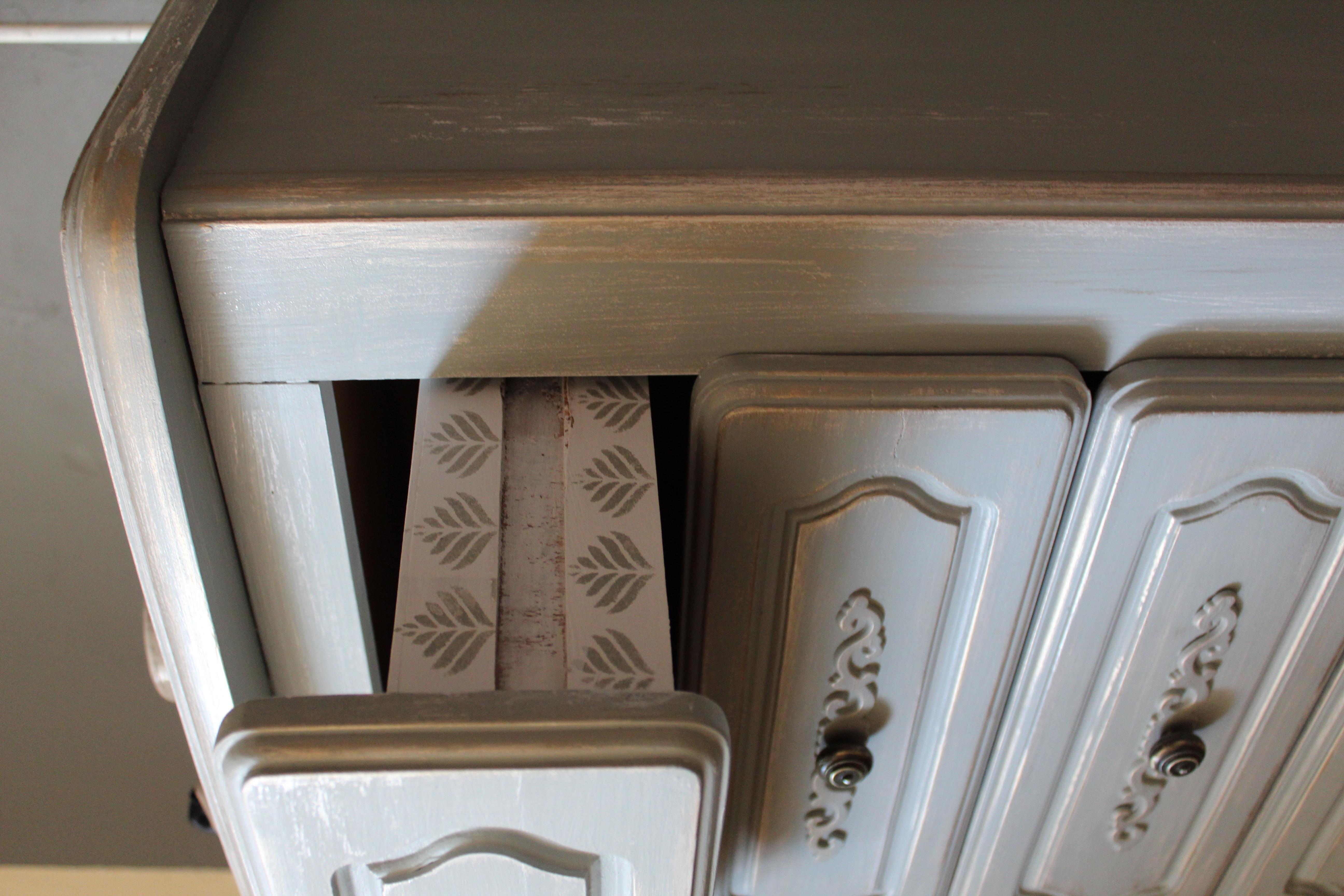 effet décoratif sur les tiroirs