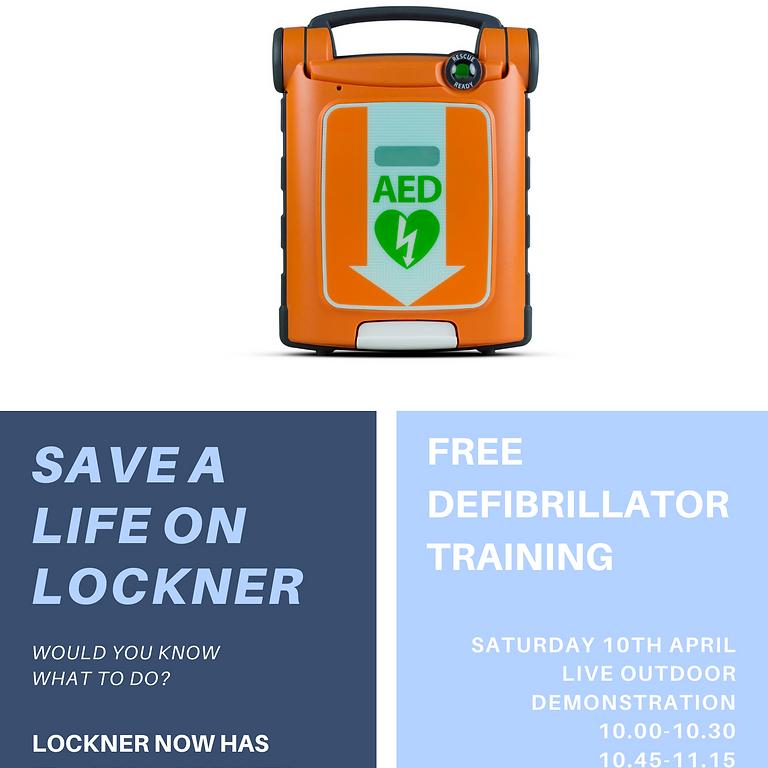 Live (outdoor) defibrillator demo with London Ambulance Service