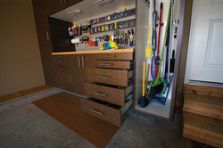 Work Bench Drawers Open