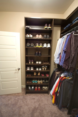 Master Closet Shoe Stack