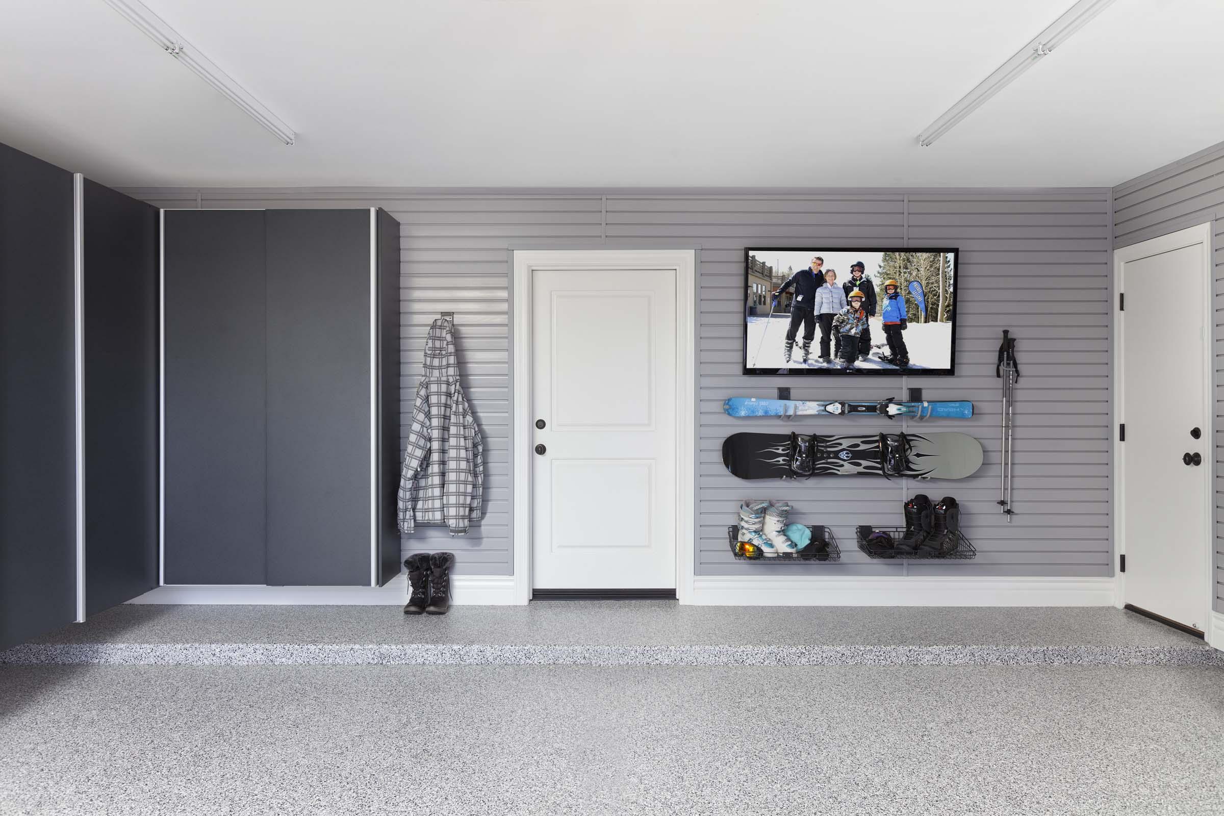 Granite Cabinets-Grey Slatwall