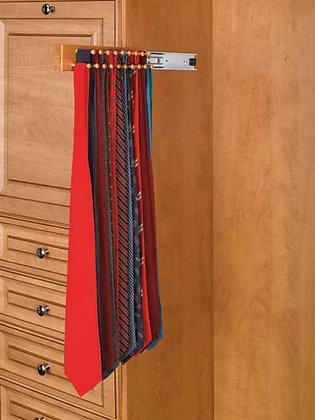 Wood Side Mount Tie Rack