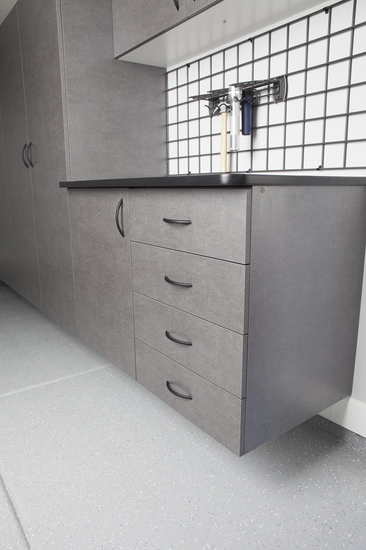 Pewter Cabinets and Drawers