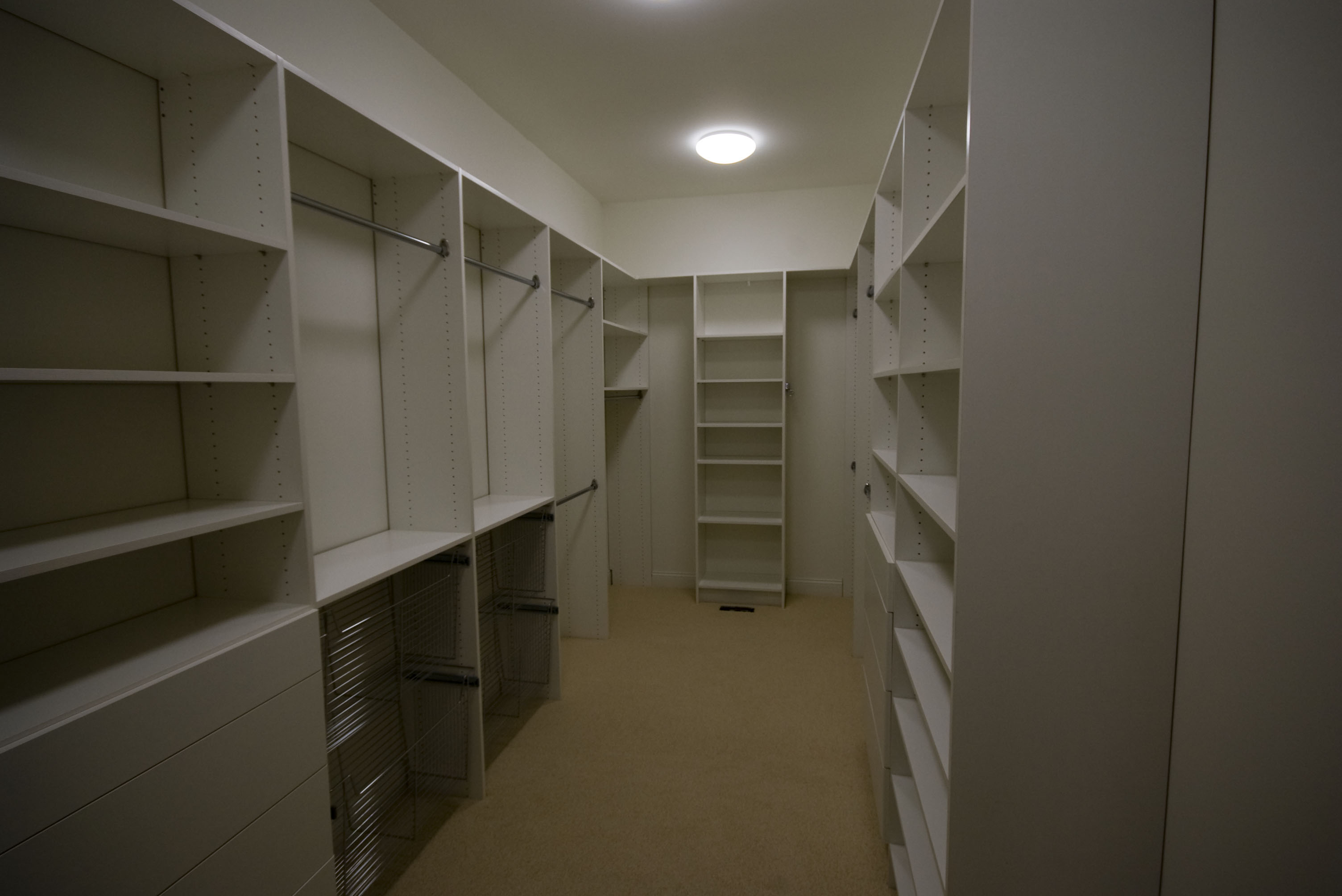 Master Closets With Baskets