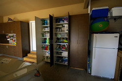 Wall Garage Cabinets Open