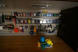 SlatWall with Tool Rack