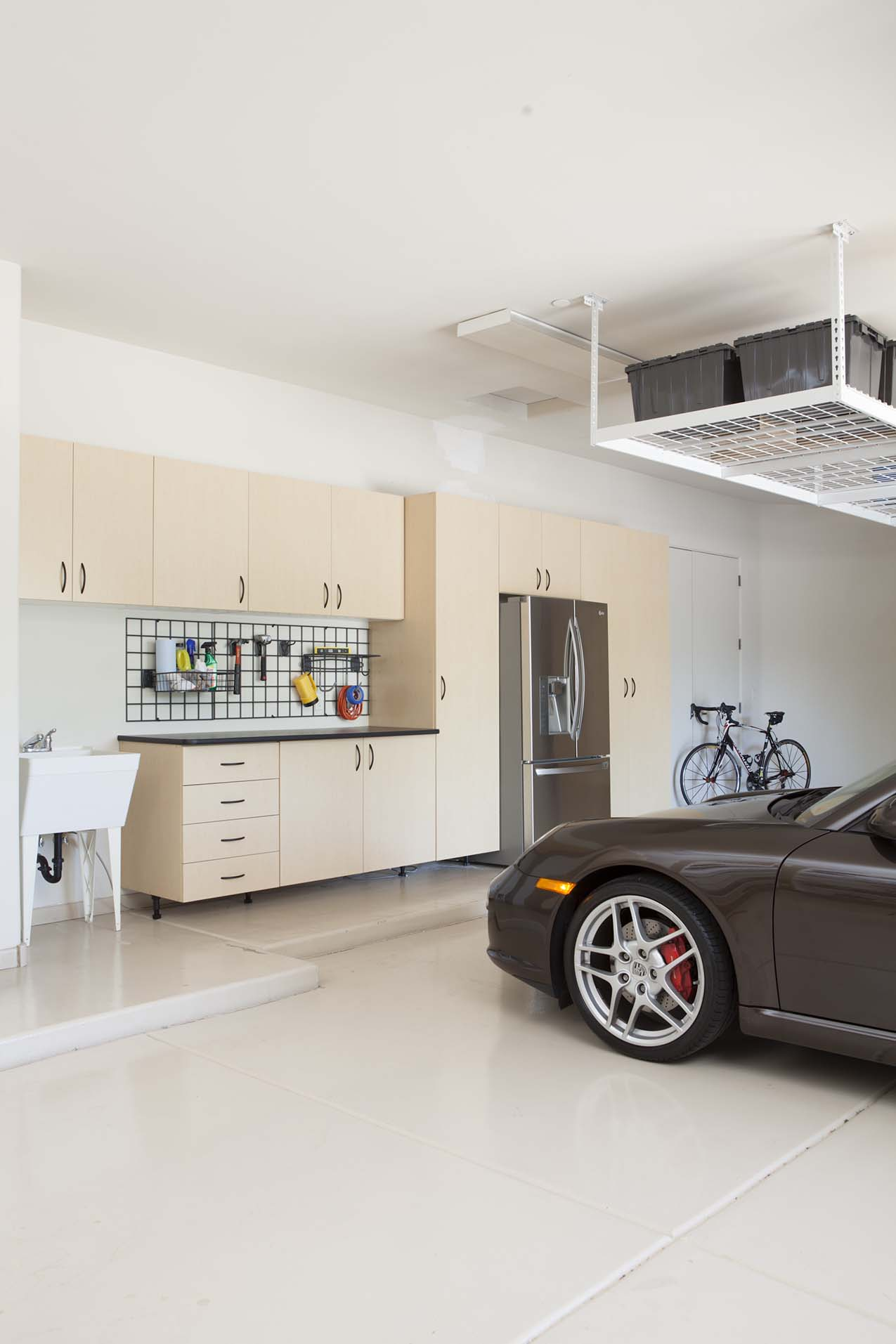 Maple Garage with Work Bench