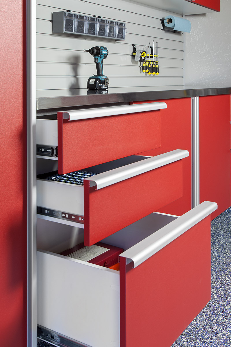 Red Drawers w Extruded Handles