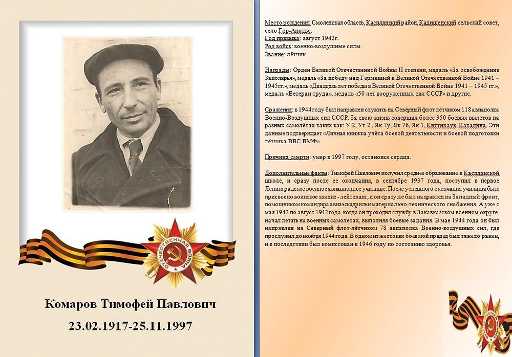 Герой семьи Мосийчук Екатерины, студентки Смоленского филиала Финансового Университета.