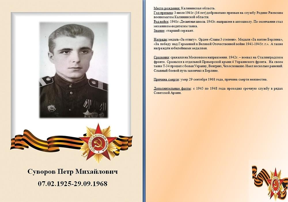 Герой семьи Лавровой Александры, студентки Смоленского филиала Финансового Университета.