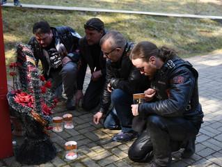 Участники мотомарша «Дороги Победы – на Берлин» посетили катынский мемориал