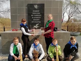 Ольшанская школа приняла участие в акции #ЭтоНашаПобеда
