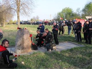 Участники мотомарша «Дороги Победы на Берлин» побывали на месте танкового сражения под Сенно