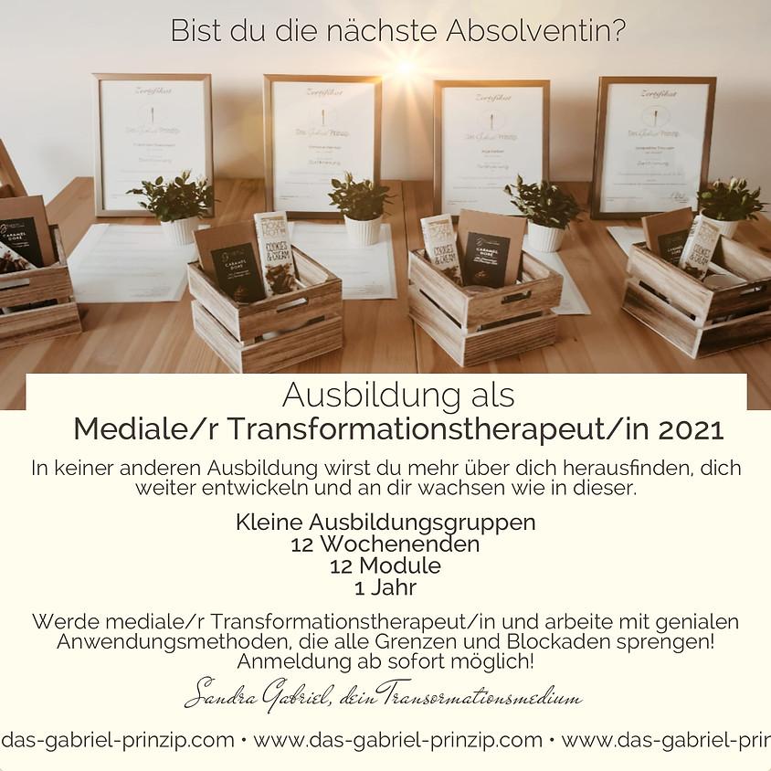 Ausbildung zur/m medialen Transformationstherapeuten/in nach Gabriel®
