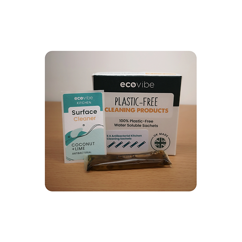 Plastic-free Anti-bacterial Kitchen Cleaner (individual sachet) - Coconut & Lime
