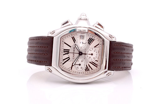 Cartier Roadster XL 2618 Stainless Steel W62019X6 49mm Chronograph Men's Watch