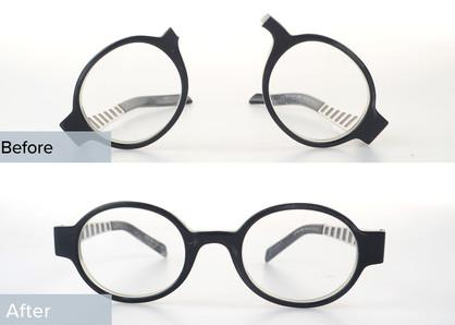 Plastic Glasses Broken in Half