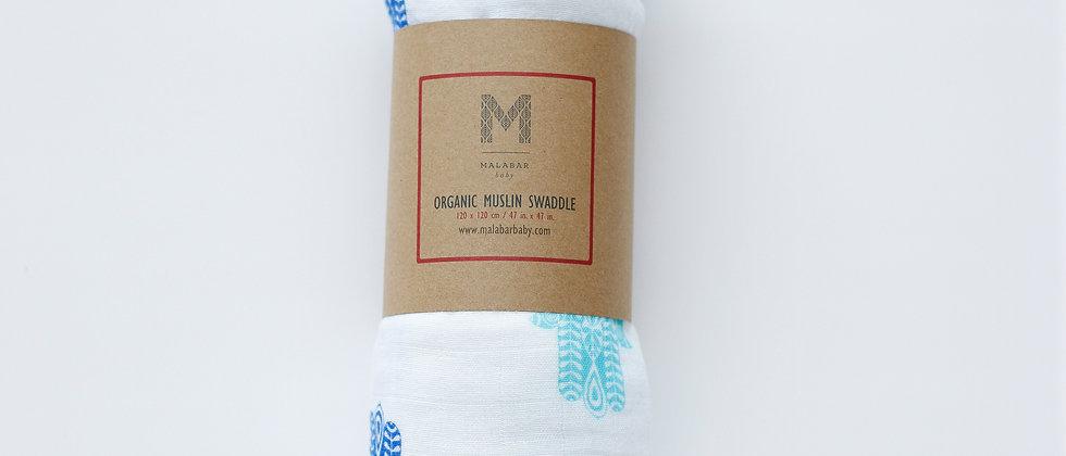 Organic Muslin Swaddle - Hamsa