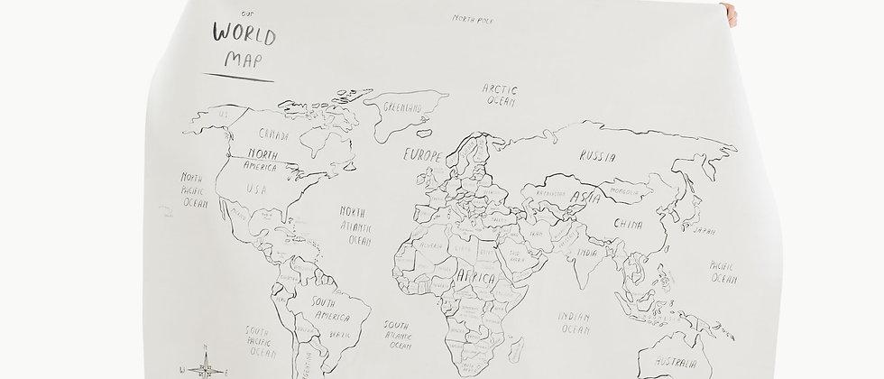World Map Gathre Mat - Midi+