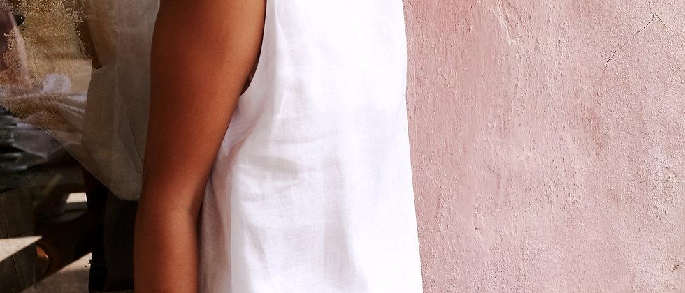 V Neck & Dropped Waist Dress