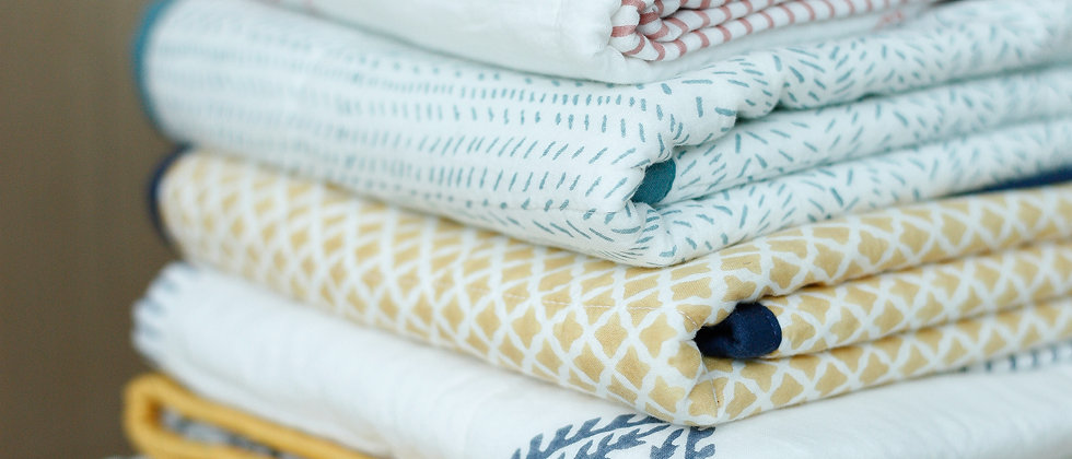 Hand Block Printed Cotton Towels