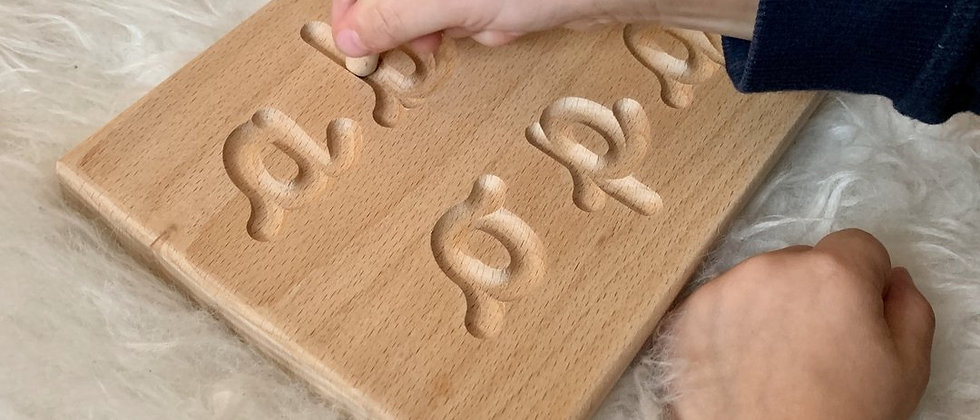 Cursive Alphabet Tracing Boards