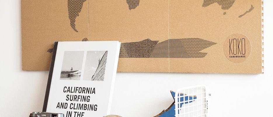 KOKO Cardboards DIY Map of the World