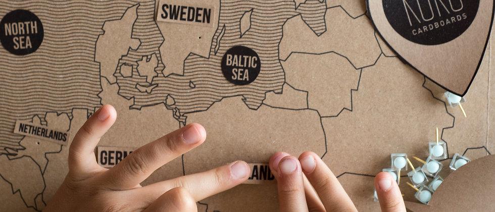 KOKO Cardboards DIY Map of Europe