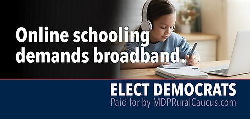 250 Postcards - Online schooling demands broadband 1