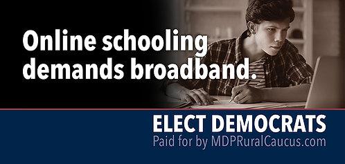 250 Postcards - Online schooling demands broadband 2