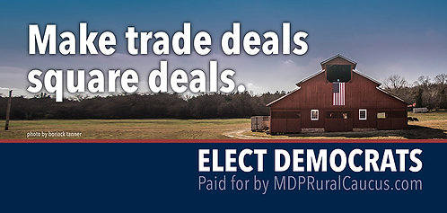 250 Postcards - Make trade deals square deals.
