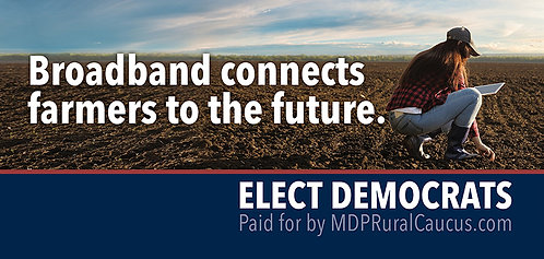 250 Postcards - Broadband connects farmers to the future.
