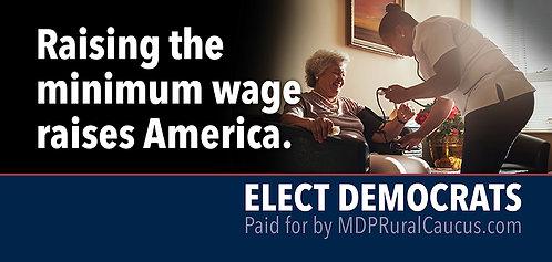 250 Postcards - Raising the minimum wage raises America.