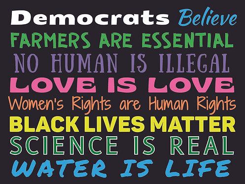 Democrats Believe Sign
