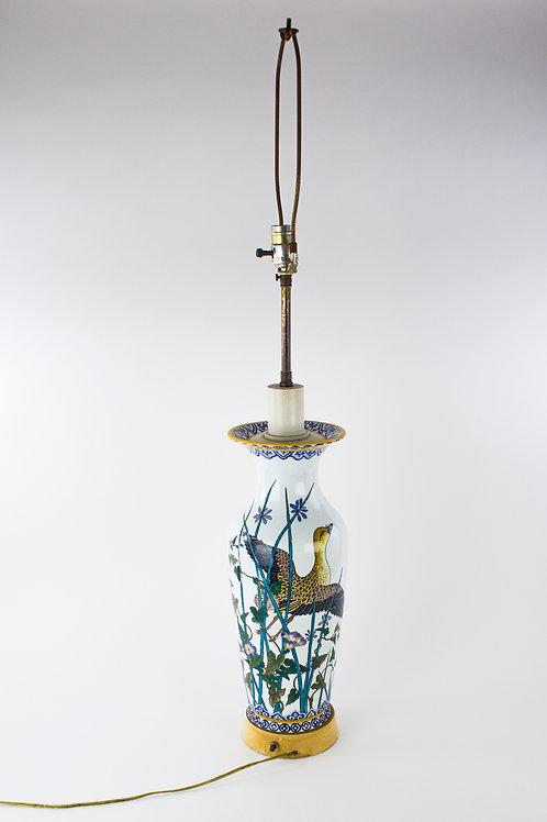 HANDPAINTED PORCELAIN VASE LAMP