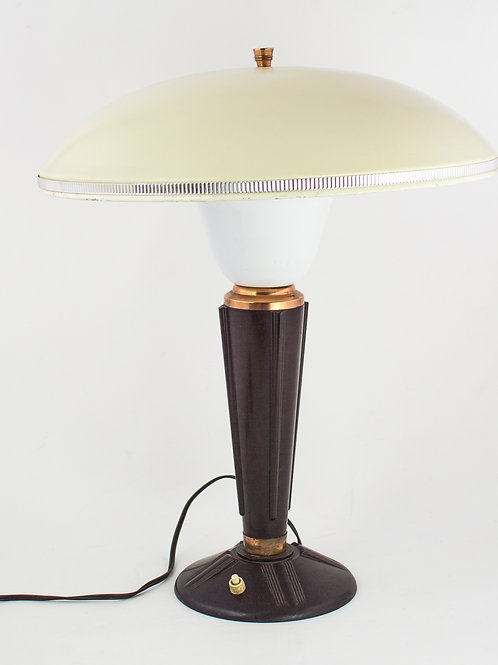 FRENCH MODERNIST MID CENTURY DESK LAMP (2) JUMO BAKELITE ADNET