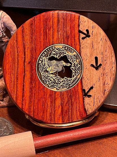 3.0 Inch 3 Track Player, Copper over Glass in Exhibition Grade Cocobolo