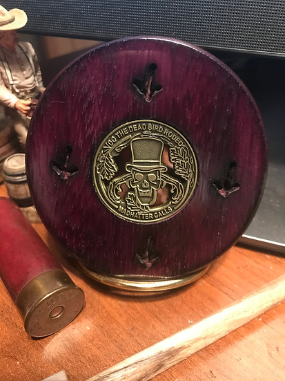 3.0 Inch 4 Track Player Copper over Glass in PurpleHeart