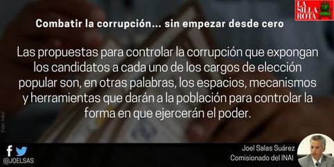 Combatir la corrupción.. sin empezar desde cero