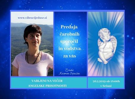 VEČER ANGELSKE PRISOTNOSTI- Predaja angelskih sporočil za vas