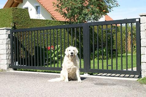 Aluminium Zaun Einfahrtstor.jpg