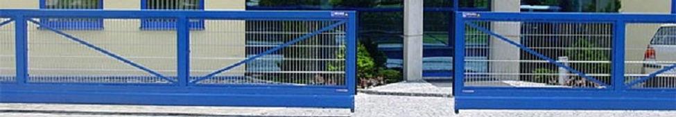 Industrietor blau beschichtet DOMATREND