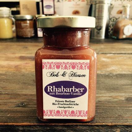 > Rhabarber mit Bourbon-Vanille Marmelade