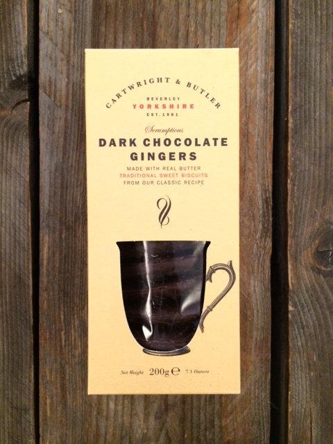 Ingwerkekse mit dunkler Schokolade