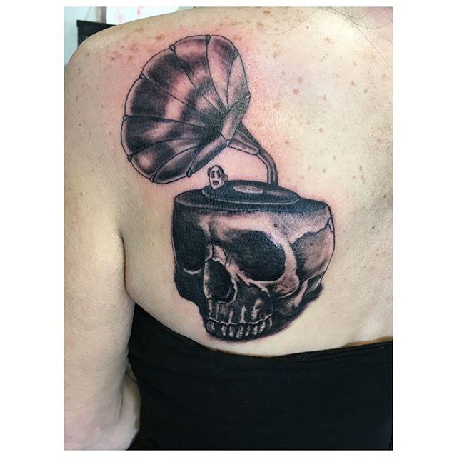 Today's tattoo #tattoos #tattoo #blackandgreytattoo #sandiegotattooartist #skulltattoo