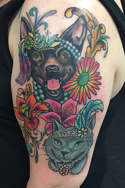 Instagram - Today's work #tattoos #tattoo #cattattoo #dogtattoo #colortattoo #27