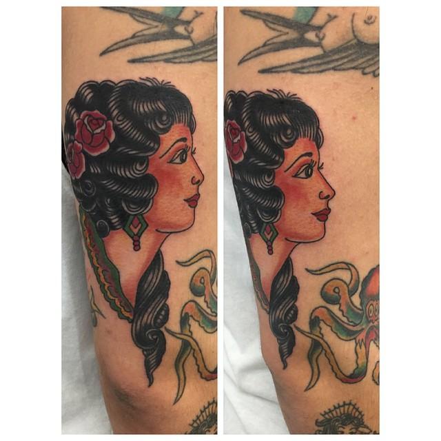 #sailorjerry#tattoo #tattoos #traditionaltattoo#gypsyhead#27thsttattoo